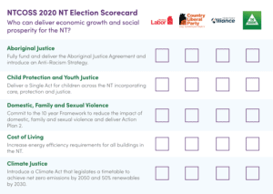 NTCOSS presents its 5 elections asks ahead of the Northern Territory election in August